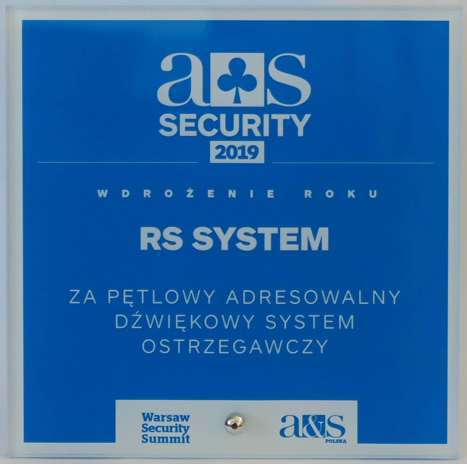 A & S SECURITY 2019 for the implementation of the year